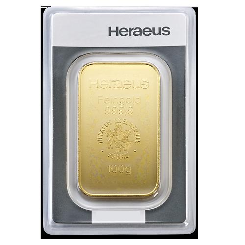 100 gramm goldbarren heraeus gepr gt gold kaufen. Black Bedroom Furniture Sets. Home Design Ideas