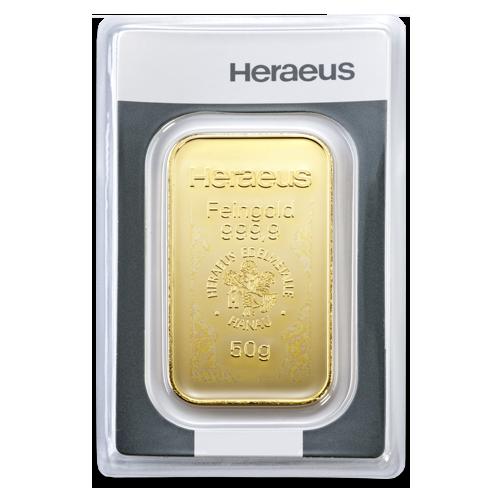 50 gramm goldbarren heraeus goldinvest klaus riotte. Black Bedroom Furniture Sets. Home Design Ideas